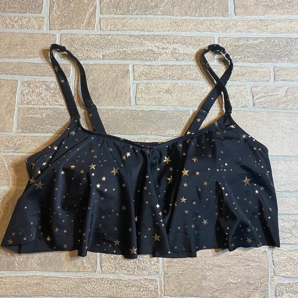 Torrid 2 2X Star Swimsuit Top Plus Size